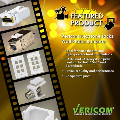 Featured Product: Keystone Jacks, Wall Plates, & Inserts